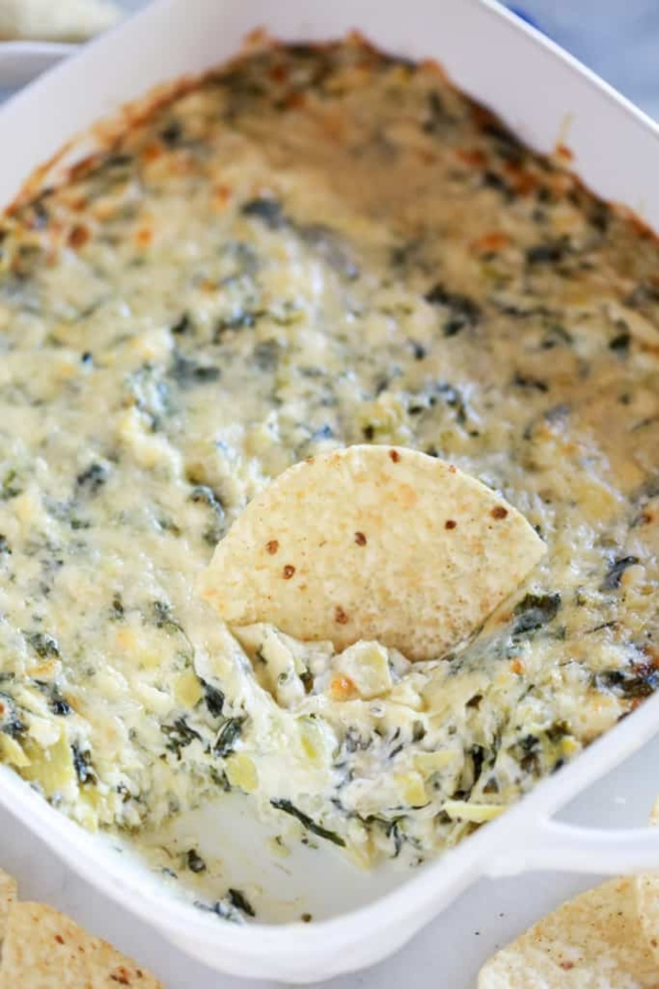 Spinach-Artichoke-Dip, photo credit tastesbetterfromscratch.com