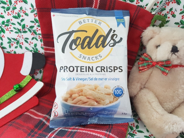 Looking for stocking stuffer ideas for her? Todd's Protein Crisps are made from egg whites.