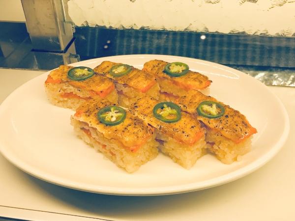 Aburi Salmon Oshi at TORA Restaurant