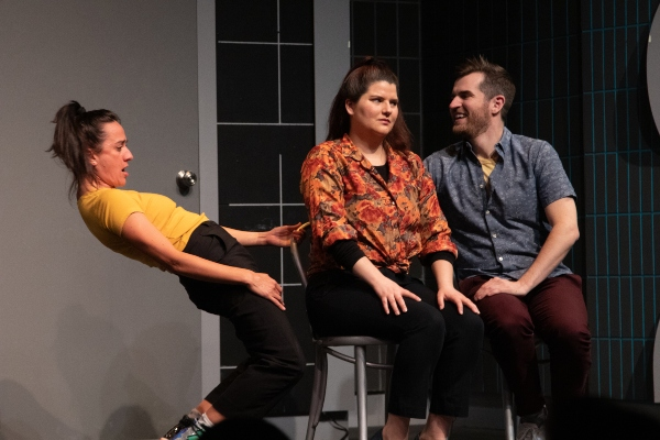 Jillian Welsh, Nicole Passmore, Christian Smith in The Second City Totally Likes You