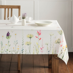 Maison d'Hermine Botanical Fresh 100% Cotton Tablecloth is a gorgeous Easter home decor item.