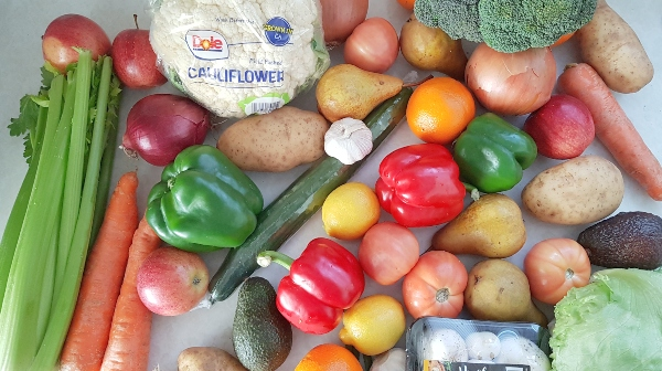 Fruits and vegetables from Doorstep Grocers