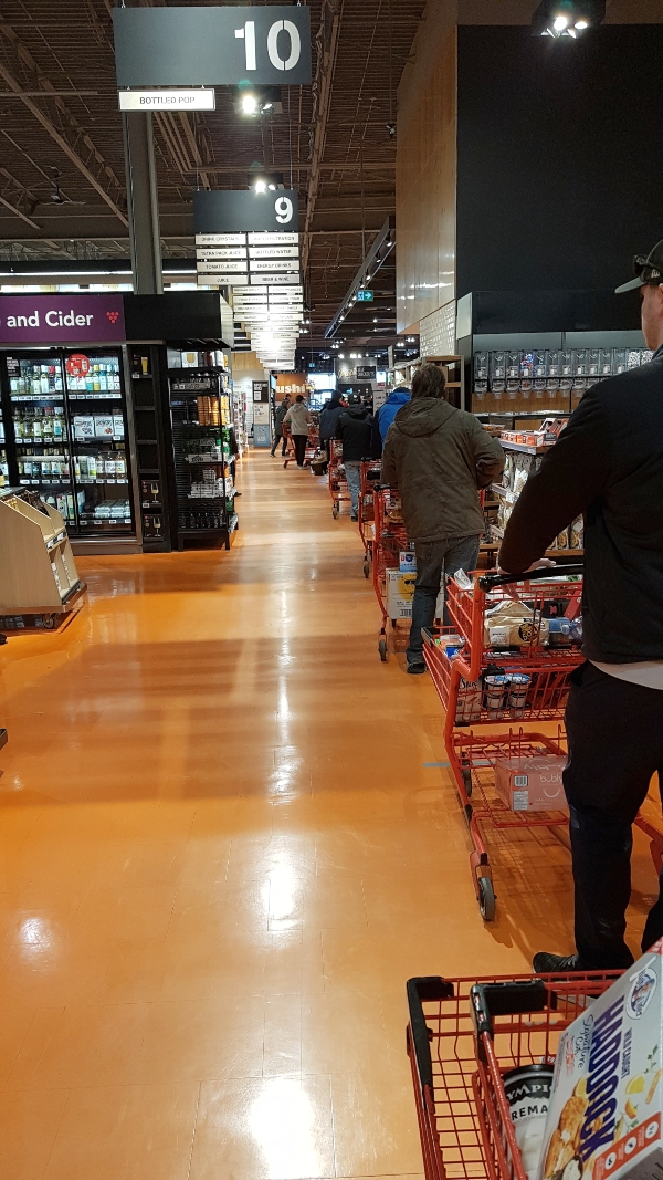 Avoid lineups at the grocery store by using Loblaws Instacart.