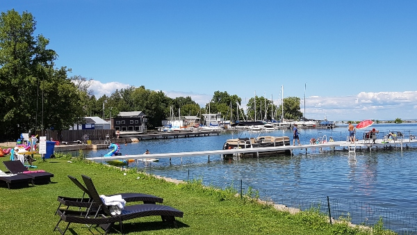 The waterfront at Ramada Jackson's Point makes a lovely summer getaway from Toronto.
