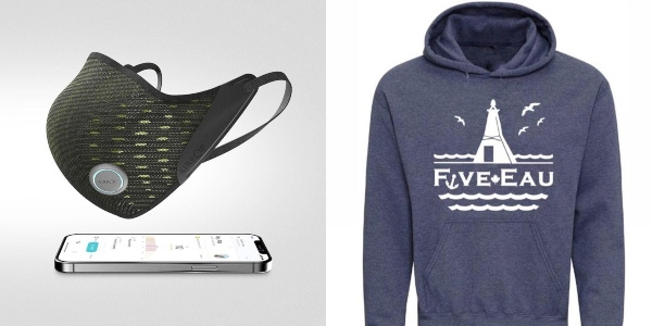 AirPop Active+ Smart Mask and Gull Hoodie from five-eau make great Father's Day gift ideas for 2021.